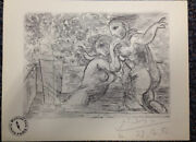 Picasso Lithograph Art Print Vollard Suite Signed Paris Gallery Stamp