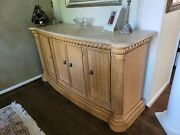 Drexel Heritage Maple/pecan Dining Room Table And 6 Chairs And Buffet