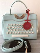 Kate Spade Be Mine Youandrsquore Just My Type Typewriter Soft Leather Purse Preowned