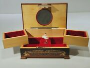Vtg Reuge Swiss Musical Movemovent Wooden Jewelry Box Chopin The Godfather