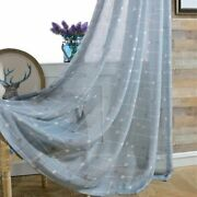 Fabric Modern Curtains European-style Printed Yarn General Pleat Home Decoration