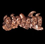 """Unique 15"""" X 7"""" Characters Of The Illiad Greek Tragedy Copper Metal Wall Decor"""