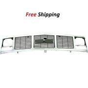 For 1988-1999 Gmc K1500 C1500 Front New Grille Silver Plastic Gm1200325 15590613