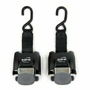 Boat Buckle G2 Pair Retractable Transom Tie-down Downs Straps 14-43 Stainless