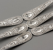 6 X 1887 Victorian Cooper Brothers Sterling Silver Teaspoons 3.462 Troy Oz