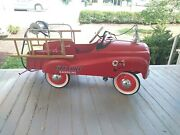 Vintage Gearbox Company 4 Texaco Fire Chief Pedal Car Fire Truck Engine 17