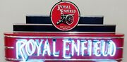 Royal Enfield Motorcycle Lighted Neon Dealership Sign Single Sided 48x24 Rare