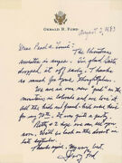 Gerald R. Ford - Autograph Letter Signed 08/02/1983