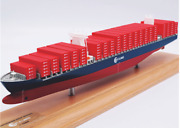 35cm Tslines Container Ship Model Cruise Ship Model With Solid Wood Base+gift
