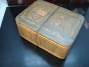 Vintage Decorative Wooden Playing Card Deck Holder Box Gma24