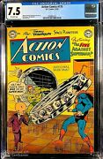 Action Comics 175 Cgc 7.5 O/w Pages 2nd Highest Graded Superman Issue Wow
