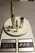 Fabulous Set Of 4 Silver Bullets 18 Troy Oz. W/ Rhodium And 24k Gold Enhancement