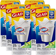 Glad Small Quick-tie Trash Bags - Odorshield + Antimicrobial Protection 4 Gallon
