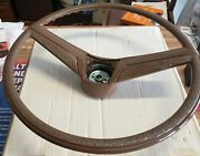 Saddle Steering Wheel And Horn Button 1969-72 Chevy And Gmc Pickup/blazer/suburban