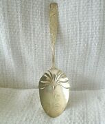 Orchids By Towle Sterling Silver 'brite Cut' Large Casserole Spoon, 9, 69g