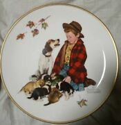 Norman Rockwell Four Seasons 1971 Collector Plates Set Of 4