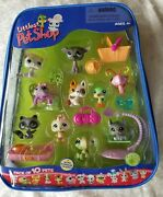 New Littlest Pet Shop 10 Pack Pets And Carry Case W/access 2007 Great Dane Spider
