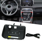 Wireless Charger Cell Phone Fast Charging Pad Lhd Fit Toyota Rav4 2019-2020