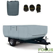 12-14 Ft Trailers Waterproof Rv Trailer Cover For Folding Pop Up Camper