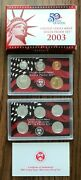 2003 United States Mint Silver Proof Set And Silver Proof State Quarters Set