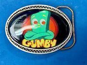 Vintage Gumby By Great American Products Cartoon Figure Pewter Belt Buckle