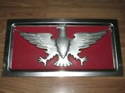 Estate Find Vintage Stainless Steel Eagle Military Jeep Foreign Plate Wwii