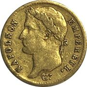 1808 A France 20 Francs Gold Coin, Circulated