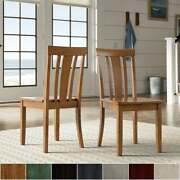 Wilmington Ii Slat Back Wood Dining Side Chairs By Inspire Q