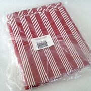 Longaberger Berry Red Stripe Fabric 5 Yards In Original Bag 1st Quality