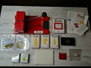 Sizzix Lot Original Personal Die Cutter Red Press Machine And Tons Of Extras