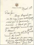 Gerald R. Ford - Autograph Letter Signed Circa 1993