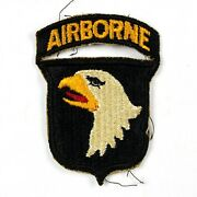 Ww2 101st Airborne Division Paratrooper D-day Shoulder Patch Type 7 Attached Tab