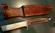 Bowie Knife With Sterling Silver Eagle Handle
