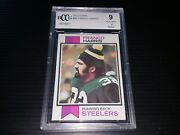 1973 Topps 89 Franco Harris Vintage Rookie High End Graded Nr Mint Bccg 9