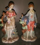 Antique Porcelain Figurines Boy And Girl