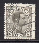 Denmark 8 Ore Stamp C1913-28 Used 566a