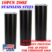 10x20oz Laser Engraving Blank Insulate Tumblers Vacuum Trave Cup With Sealed Lid