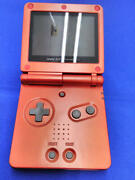 Nintendo Retro Game Gameboy Advance Gba Sp Ags-001 Flame Red Handheld System