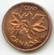 Canada 1974 Penny Canadian 1 Cent Coin Exact