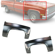 For 1981-91 Chevrolet C10-30 R10-r30 Set Of 2 Front Lh And Rh Primed Steel Fenders