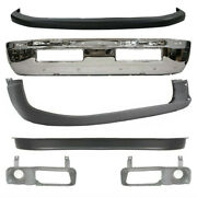 New Set Of 6 Front Chrome Bumper Covers Kit For Dodge Ram 1500 1994-2001