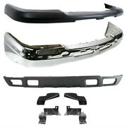 New Front Bumper Face Bar Valance With Brackets Kit For Silverado 1500 2003-2006