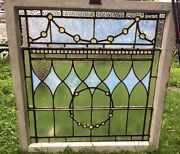 Rare Antique Blue Stained Glass Wedding Ring Window Chunk Jewels Shipping Ok