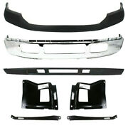 New Set Of 7 Front Chrome Bumper Kit For Ford F250 F350 Sd 2005 2006 2007