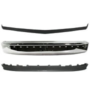 New Front Chrome Bumper Lower Valance Molding Kit For Ford F-150 1992-1996