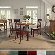 Eleanor Antique Grey Round Top Solid Wood Dining Set - X