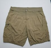 Lot Of 2 Gerry Mens Cargo Shorts Size 42 Waist Tan Stretch Hiking Outdoors