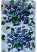 Waverly Polished Cotton Fabric Sweet Violets Purple 4.5 Yds Plus 54 Wide