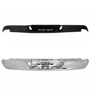 New Set Of 2 Rear Step Bumper Chrome And Step Pad For Dodge Ram 1500 2002-2008