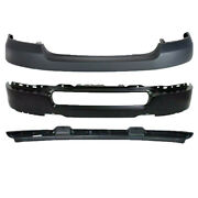New Set Of 3 Front Black Bumper Facial Valance Kit For Ford F-150 2004-2005